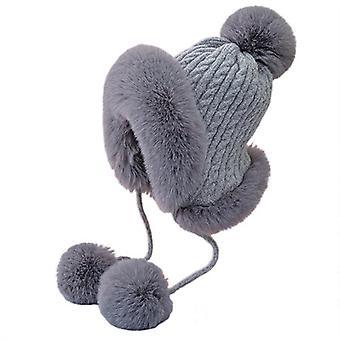 Nyúl szőrme megvastagodott hidegálló meleg kalap