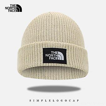 The North Face Beanie Hat Outdoor Unisex Warm Women's Men's Stretch Knitted Hat