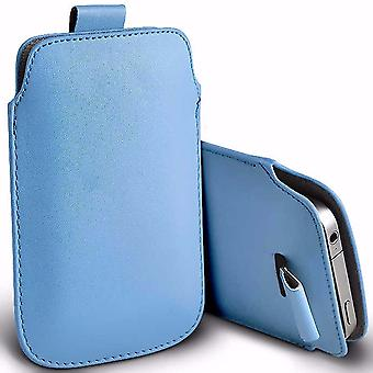 i-Tronixs Premium Stylish Faux Leather Pull Tab Pouch Skin Case Cover For Intex Aqua Star II (5