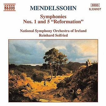 F. Mendelssohn - Mendelssohn: Symfonier nr. 1 & 5 reformasjonen [DVD] USA import