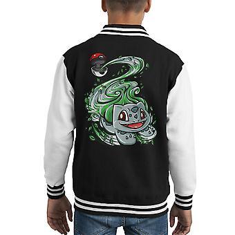 Bisasam Pokeball Pokemon Kid Varsity Jacket