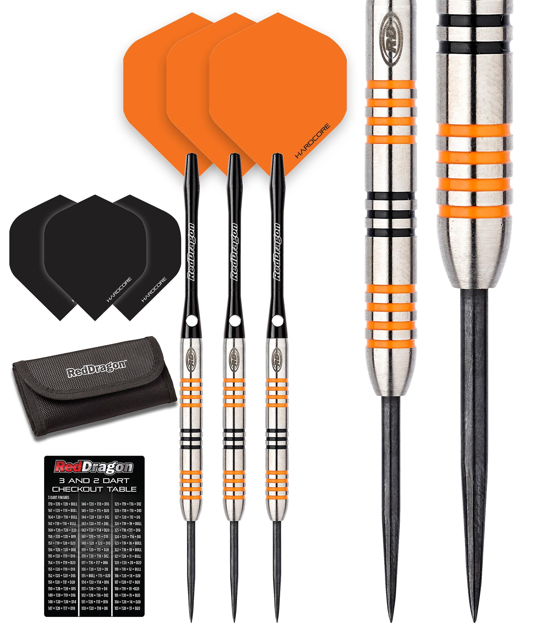 Red Dragon Amberjack 3: 22g - 90% Tungsten Steel Darts with Flights, Shafts, Wallet & Red Dragon Checkout Card