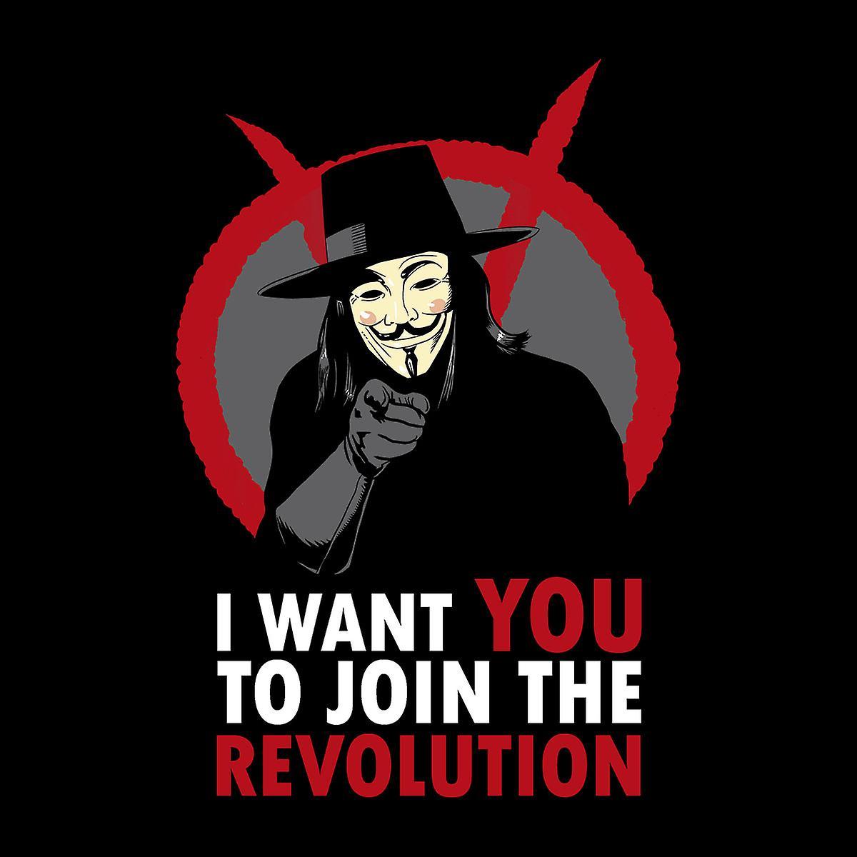 Quiero que unirse a la revolución V para Varsity Jacket Vendetta niños