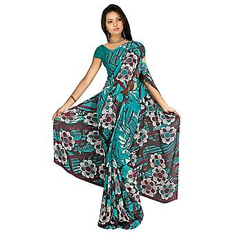 Chanchal Georgette Printed Casual Saree Sari Bellydance fabric