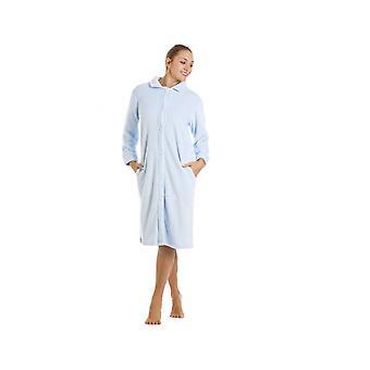 Camille Blue kolana długość przycisk do przodu Polar Housecoat
