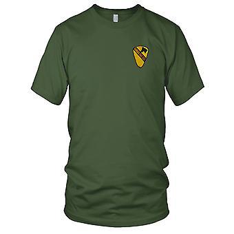 Amerikaanse leger infanterie 1st Cavalry geweren een Ga Ga militaire insignes Vietnamoorlog geborduurde Patch - Mens T Shirt