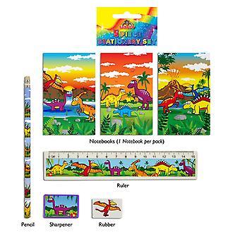 Dinosaur 5-Piece Stationery Set