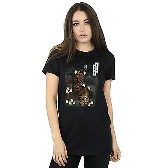 الماضي صديقها حرب النجوم للمرأة اليابانية Chewbacca برجس جدي تناسب القميص