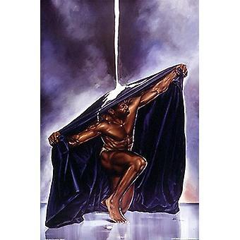 Bleiben Sie schwarz Poster Print von Kevin A Williams (12 x 18)