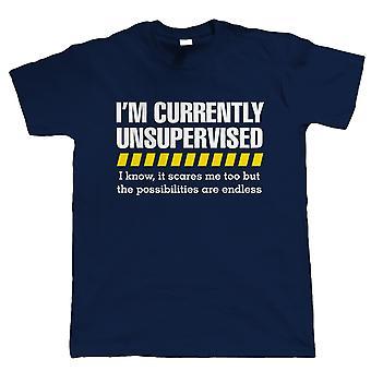 Unbeaufsichtigte lustige Herren T-Shirt - Geschenk für ihn Papa Opa Witz Slogan
