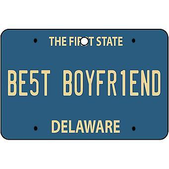 Delaware - el mejor ambientador del coche de la placa del novio
