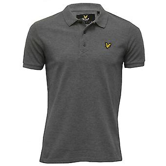Lyle & Scott Classic Pique Polo Shirt, Grey Marl
