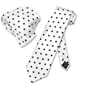 Vesuvio Napoli w / prickiga smal halsduk näsduk slips inställd