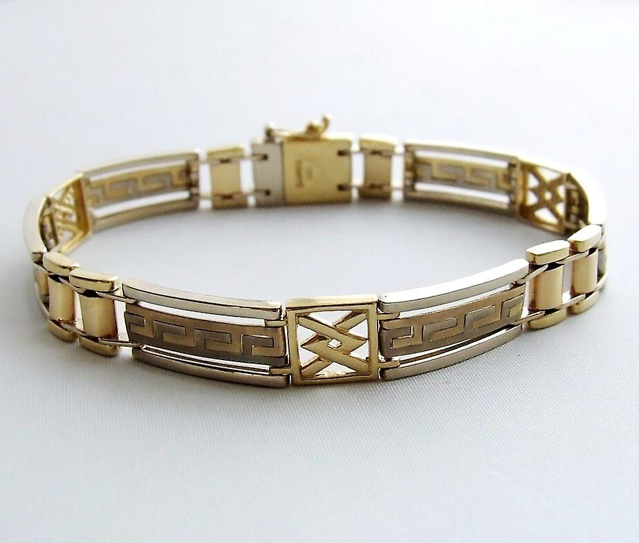 Christian bicolor Gold Bracelet