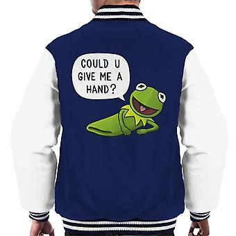 The Muppets Kermit The Frog Give Me A Hand Men's Varsity Jacket