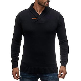 Mens Knitwear Sweater knit pullover winter shawl collar warm longsleeve