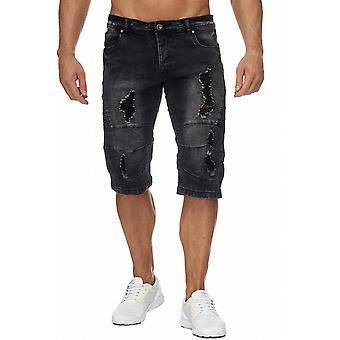New Men's Jeans Shorts Pants Stone Washed Denim Biker Style Summer Capri TOP