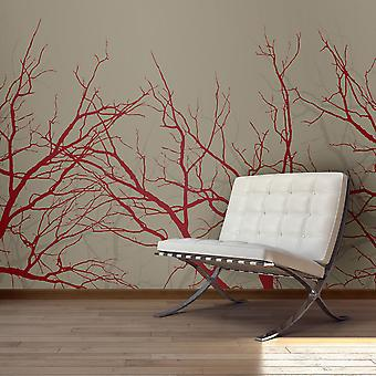 Fototapet - Red-hot branches