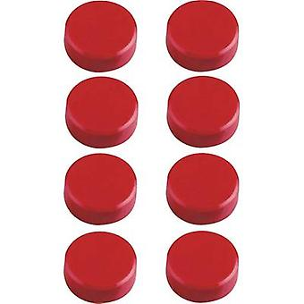 Maul Magnet MAULpro (Ø x H) 15 mm x 7 mm Round, Facet edge Red 8 pc(s) 6175225