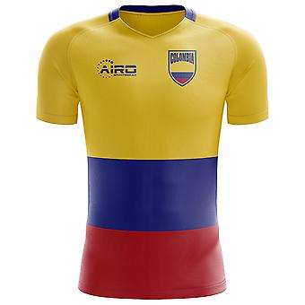 2020-2021 Colombia Flag Concept Football Shirt (Kids)