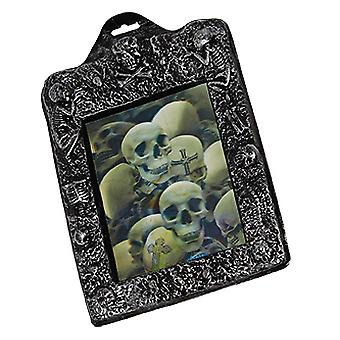 Picture Puzzle skulls 21 x 26cm scary horror Halloween decoration accessory