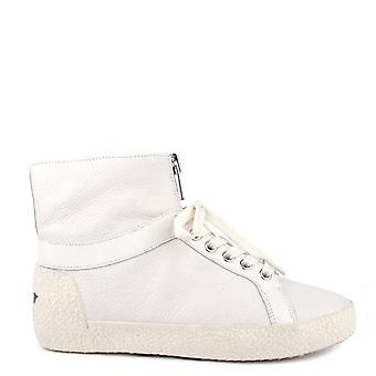 Ash Footwear  Nomad White Leather Trainer  Translate