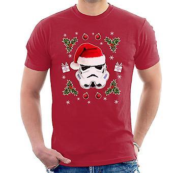 T-shirt originale Stormtrooper Natale cappello Trooper uomo