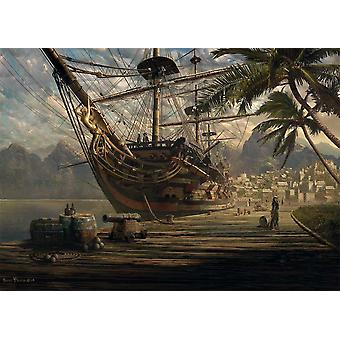 Schmidt Ship At Anchor Jigsaw Puzzle (1000 Pieces)
