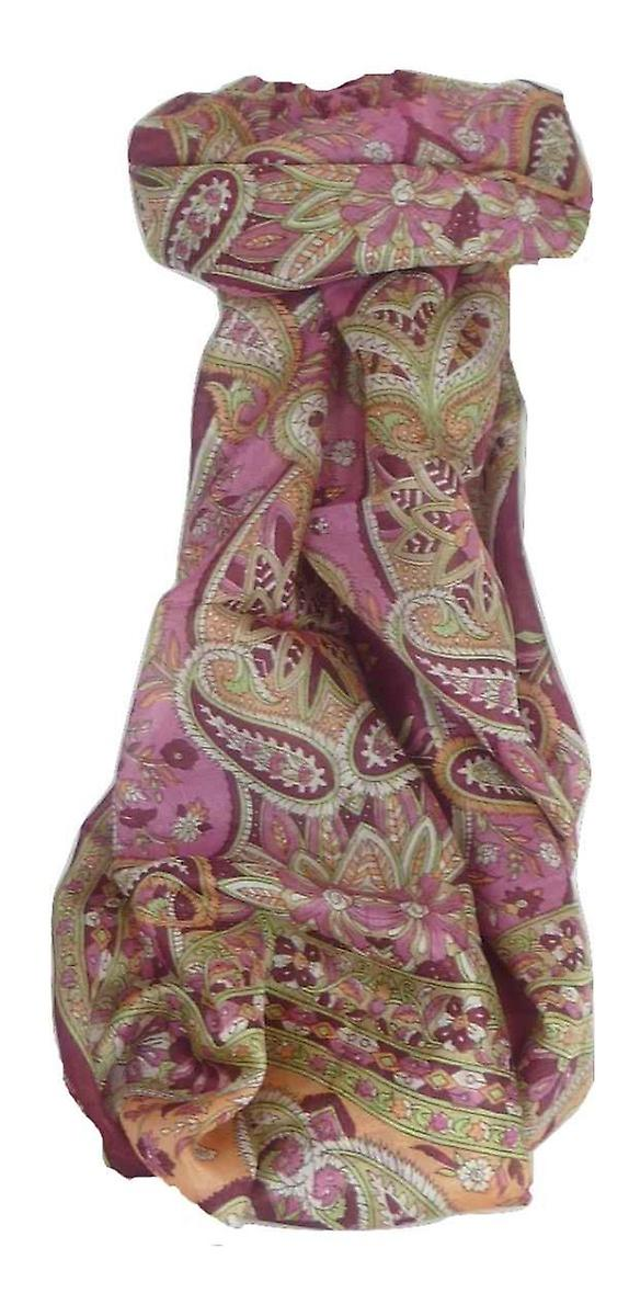 Mulberry Silk Traditional Long Scarf Chawl Carnation by Pashmina & Silk