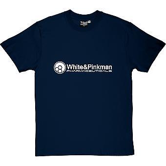 Vit och Pinkman Pharmaceuticals mäns T-Shirt