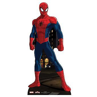 スパイダーマン等身大段ボール切り欠き/立ち/立ち上がり - マーベル スーパー ヒーロー
