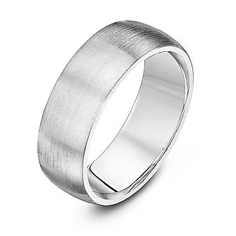 Star Wedding Rings Palladium 950 Heavy Court Matt Finish 7mm Wedding Ring