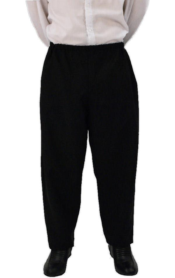 Orion Costumes Mens Elasticated Waist Black Trousers For Fancy Dress Costumes