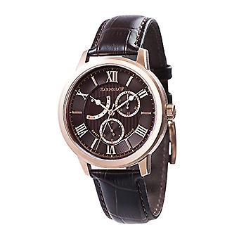 Thomas Earnhshaw 8060-04 man ES-retrograde Watch Sweep Cornwell quartz watches with analog display classic Brown and brown leather strap