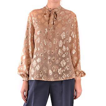 Saint Laurent Ezbc022016 Women's Beige Silk Shirt
