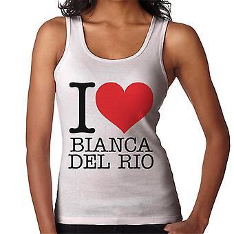 Eu amo colete Bianca Del Rio feminino