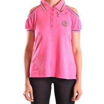 Frankie Morello Ezbc167021 Women's Pink Cotton Polo Shirt