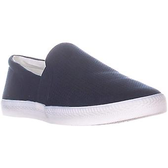 SC35 Louiza Perforated Slip-On Sneakers, Navy