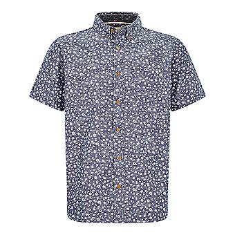 Weird Fish Mens Keel Print Short Sleeve Shirt