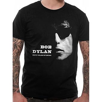 Bob Dylan Unisex Adults Fifty Years Of Music Design T-Shirt
