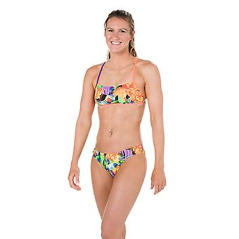 Speedo Funk Burst 2 Piece Crossback Swimwear For Girls