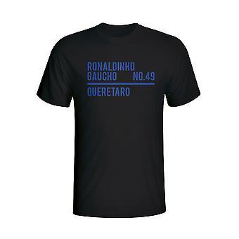 Роналдиньо Керетаро отряд футболки (черный) - дети
