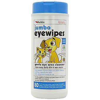 Jumbo yeux lingettes nettoyant zone oculaire ou chats chiens & (80)