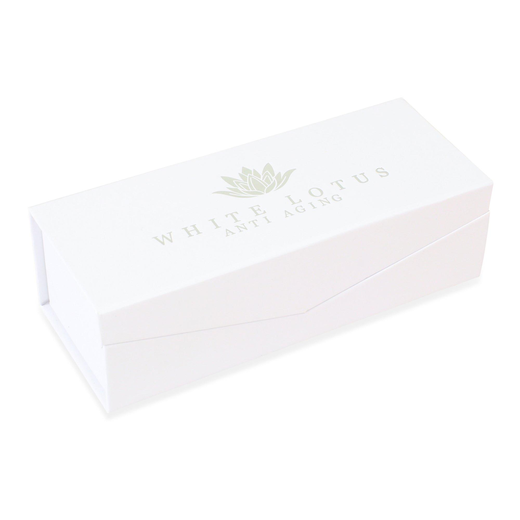 Large rose quartz roller - natural chemical free crystal in a signature silk lined box