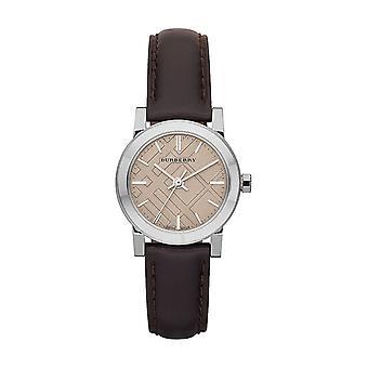 Burberry Bu9208 marron cuir bracelet crème cadran montre femme