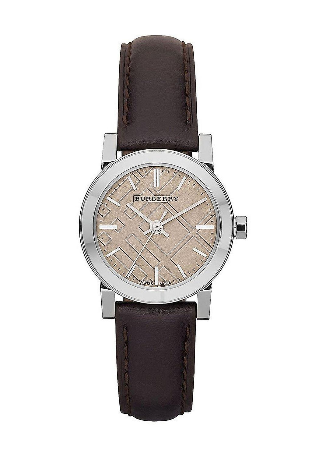 Burberry Bu9208 Brown Leather Strap Cream Dial Women's Watch