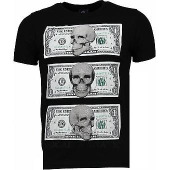 أفضل أموالي -- راينستون تي شيرت -- أسود