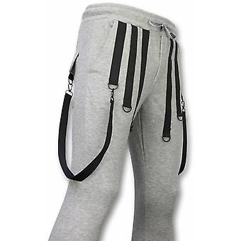 Casual sweatpants-grunnleggende bukseseler-grå