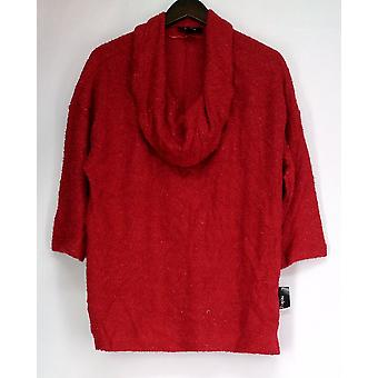 Stijl & Co. plus trui 3/4 mouw Cowl nek w/Shimmer detail Womens
