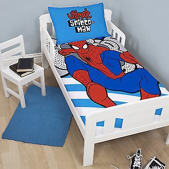 Ultimate Spider-Man Spiderman hænge Reversible enkelt dyne og pudebetræk sæt